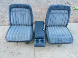 88-94 CHEVY SILVERADO SUBURBAN TAHOE GMC SIERRA BLUE LOW BACK BUCKET SEATS