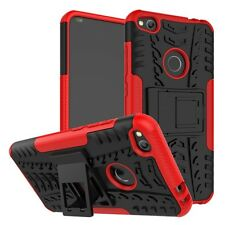 Hybrid Case 2 Pieces Outdoor Red for Huawei P8 Lite 2017 Cover Case Cover Cover