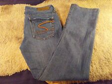 Women's Seven 7 Jeans Straight Cut Distressed Medium Wash Size 28X29