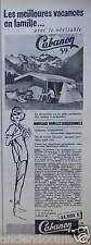 PUBLICITÉ 1959 CABANON DES TENTES A ARMATURE - ADVERTISING