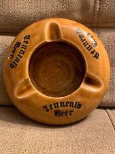 Rare Vintage Tennent'S Beer Scotland Brown Ceramic Ashtray