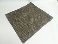 """Single Scatter Cushion Cover 17"""" Brown Square Textured Pattern Home Decor #14M44"""