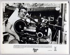 director LOUIS MALLE w. Arriflex movie camera ALAMO BAY 1985 Vintage Orig Photo