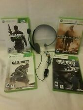 Xbox 360 Call of Duty Game Bundle w/ Headset 4 Games Complete Tested