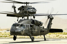 BLACK HAWK HELICOPTERS AT KANDAHAR AIRFIELD 12x18 SILVER HALIDE PHOTO PRINT