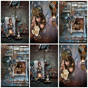 STEAMPUNK DREAMS  Embellishments (12), Card Making Toppers, Card Toppers