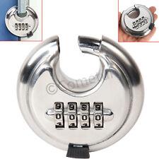 Número de 4 dígitos combinación de código Disco Cerradura Candado de acero inoxidable de puerta de caseta