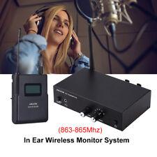 UHF Stereo Monitor System Casque numérique de scène  fil IEM 6 voies 863-865mhz