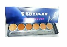 Kryolan Supracolor 6 Color Foundation Palette (FS) Freeshipping