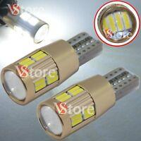 4pc Lampade Lente T10 LED HID Canbus 20 SMD 4014 BIANCO Lampadine Posizione Auto