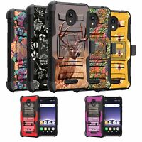 For Alcatel Insight / TCL A1 Holster Clip & Kickstand Case