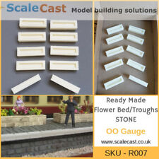Ready Made Model Railway STONE Flower Bed / Troughs X10 - R007
