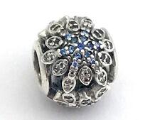 Authenthisch Pandora Überdauernde Schneeflocken Blau Kristall Anhänger