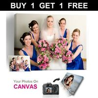 Buy 1 Get 1 Free Personalised Photo on Canvas Print Framed A0 A1 A2 A3 A4 A5