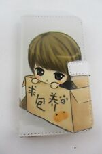 Anime Folio Phone Case Samsung Note 2 N7100 colored leather Girl Please Take Me