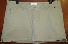 "Abercrombe Fitch A&F Sz 8 Tan Khaki Skirt Waist17"" Lngth11"" Cotton  Ret$49"