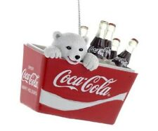Polar Bear Cub in Vintage Coca Cola Cooler Christmas Tree Ornament CC2115 New