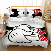 Mickey Minnie Quilt Cover Duvet Cover Set Twin Full Queen King Size Bedding Set