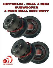 (4) 8 Inch Car Audio Subwoofer Dual Voice Coil 4 Ohm 5600W Massive Hippo XL 84