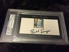 BILL SINGER 2010 Historic Autographs HOF All-Star Edition CUT SIGNATURE AUTO /15