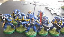 40K Space Marines Tactical Squad painted