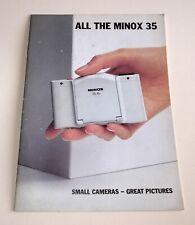 MINOX - ALL THE MINOX 35 - 1987 BROCHURE - GOOD COND