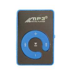 Mini Mirror Clip Mp3 Sport Player With TF-Card Suppot Up To 8GB Blue Hot