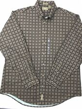 b79f22c4 Natural Issue Mens XLT Wrinkle Free Brown Black Geo Long Sleeve Button Shirt  (F2