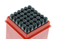 "1/8"" 36pcs Letter Number Stamp Punch Set 3mm Hardened Steel Metal Wood Leather"