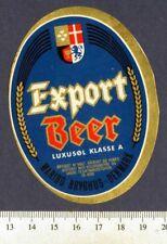 Danish Beer Label - Maribo Brewery - Denmark - Export Beer