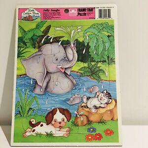 Little Golden Book Land Jolly Jungle  1989 JIgsaw Puzzle 12 Piece VGC