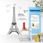 HOT Paris Eiffel Tower Removable Vinyl Art Decal Mural Home Wall Sticker Decor