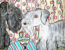Aceo Cesky Terrier Martini Dog Collectible Signed 2.5 x 3.5 Art Card Print Ksams