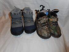 Boy's Toddler Garanimals Boots 2 Pair Size 5 Realtree Camo & Blue NEW