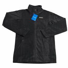 Columbia Youth Unisex Black Fleece Full Zip Jacket  Size XL Lightweight & Comfy