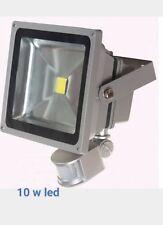 1   Projecteur led 10w Spot lampe extérieur avec detecteur de mouvement blanc