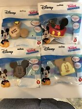 Disney Mickey Mouse Kawaii Squeezies Mickey, Toast, Cake, Ears Set 0f 4 New