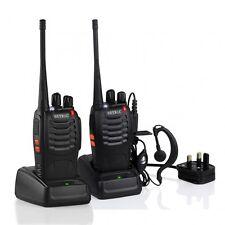2 x Long range Walkie Talkie radio set 2 way & earpiece Ghost hunting equipment