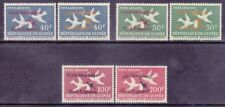 Guinea C35-38 MNH 1962 Doves Airmail Overprinted CONQUEST OF SPACE 2 Types 40-50