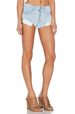Sz 29 New Wild Fox Couture Jean Shorts Beach Butt High Waist Sea Spray Blue