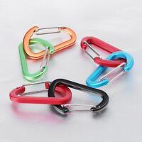 2pcs D Shape Fast Hang Mini Hook Buckle Clip Aluminum Camping Carabiner Keychain