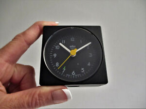 Vintage Dieter Rams BRAUN AG Quartz Travel Alarm Clock 4746/AB1 Black Germany