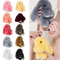 Fashion Faux Rabbit Fur Bunny Pom Ball Doll Toy Keychain Charm Handbag Pendant