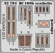 Eduard 1/32 Messerschmitt Bf 109G-6 seatbelts for Revell # 32794
