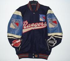 4XL NHL NEW YORK RANGERS Wool BODY & Distressed LEATHER SLEEVES Jacket XXXXL