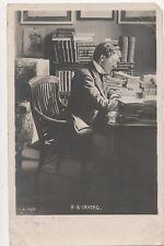 POSTCARD  ACTORS  H B Irving