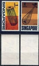 Singapore stamps - 1969 Musical Instruments definitives 1c , 4c MNH