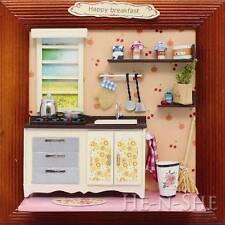 DIY Wooden Dollhouse Miniature Photo Frame Kitchen M009