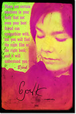 BJORK ART PRINT PHOTO POSTER GIFT Björk QUOTE