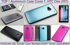 Fine Custodia Rigida Alluminio Copertura HTC M7 Protettiva Cromo difficile